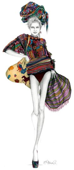 Guatemala by Elena Capoccia  Love the splash of colour in the black and white detailing.