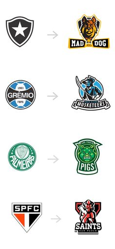 Brazilian Football Clubs Rebranded