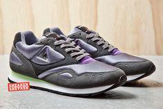 Le Coq Sportif Flash | Charcoal, Green & Purple