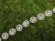 Rhinestone Flower Design Chain (10 Yards)