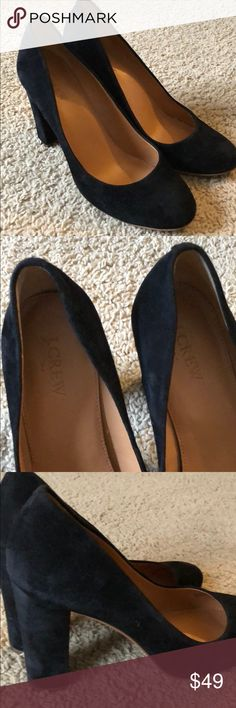 J Crew Black Suede Heels Size 8.5 Gently worn J Crew black suede heels. Size 8.5. Cute for work or dressing up. J. Crew Shoes Heels