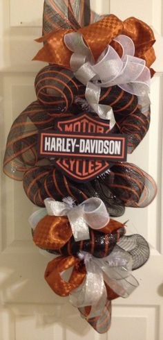 HARLEY DAVIDSON Wreath Swag Motorcycle Fans by frontdoorcouture, $75.00