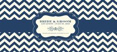 Blueberry and Cream Wedding Stubby Holder Template - 11272014115949