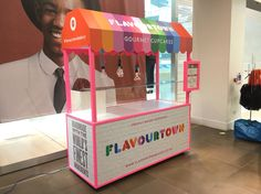 Flavourtown Cupcake Cart, made by the victorian cart company. Colourful and eye catching