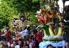 Die teils gruseligen Ogoh-Ogohs symbolisieren häufig Dämonen, die den Menschen übelwollen.