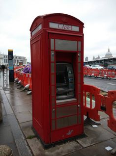 This telephone box is now an ATM