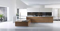 Cucina bianca e legno 26