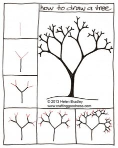 How to draw a tree step by step. This tutorial makes so much sense!