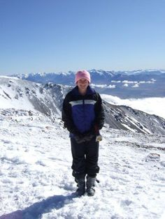 The top of Mount Hutt, New Zealand.