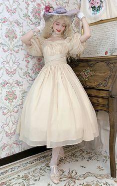 Lost Angel -Afuluoditei- Long Version Lolita OP Dress Romantic Clothing, Romantic Outfit, Lolita Dress, Graduation, Lost, Angel, Clothes, Dresses, Fashion