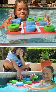 Pool Noodle Tic-Tac-Toe Craft by Brenda Ponnay for Alphamom.com