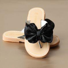 L'Amour Girls Satin Bow Sandal