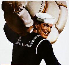 Vintage sailor illustration #sailor #navy