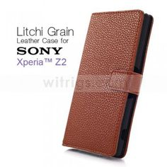 Sony Xperia Z2 Wallet Case for Brown - Witrigs.com #xperiaz2 #xperiaz2case