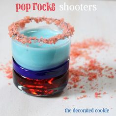 Pop Rocks Shots | DIY Cocktail Recipes For Your 4th Of July Party by DIY Ready at http://diyready.com/19-dyi-ideas-for-your-fourth-of-july-party/