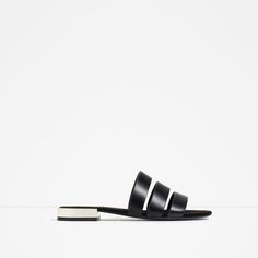 Image 1 of FLAT SHOES WITH METAL HEEL DETAIL from Zara