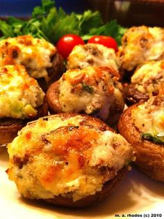 Cooking The Amazing: STUFFED  MUSHROOMS