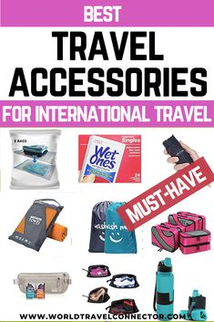 Check out the ultimate list of must-have travel accessories for international travel! Best Travel Accessories I Travel Accessories International I Travel Accessories Organization I Travel Accessories Gadgets I Top Travel Accessories I Cool Travel Accessories I Cute Travel Accessories I Travel Accessories For Women International I Travel Accessories Business I Travel Accessories Bags I Travel Accessories Trendy I Travel Accessories Lugguage I Travel Accessories For Women Products I Travel… Road Trip Packing, Packing List For Travel, Vacation Packing, Packing Lists, Travel Info, Travel Stuff, Travel Items, Travel Gifts, Travel Products