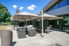 Shadowspec outdoor cantilever umbrellas are great for home, shelter your friends and family all day long Outdoor Patio Umbrellas, Outdoor Umbrella, Outdoor Seating, Outdoor Ideas, Outdoor Spaces, Outdoor Living, Outdoor Decor, Backyard Shade, Cantilever Umbrella