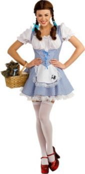 sexy wizard of oz dorothy costume leg avenue m gingham blue mary peasant dress leg avenue and costumes - Dorothy Halloween Costume Women