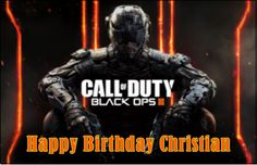 Call of Duty Black Ops 3 Personalized Happy Birthday Cake Design Topper