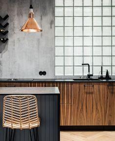 Modern Gray Living Room Decor by Dizaino Virtuve - InteriorZine #kitchendesign