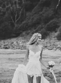 Stunning boho low back white lace short wedding by Graceloveslace, $1800.00