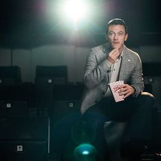 Give me your popcorn #LukeEvans
