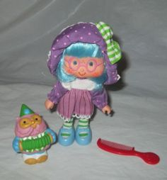 VINTAGE-PLUM-PUDDIN-PUDDING-STRAWBERRY-SHORTCAKE-DOLL-COMPLETE-OWL-PET-KENNER