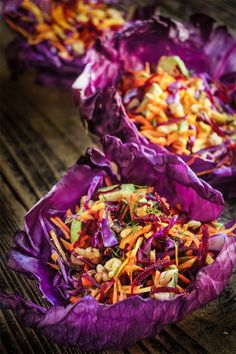 Fall superfood, detox salad - delicious, filling and nutrient rich cabbage slaw with carrots, beets, walnuts, avocado, dill and garlic - it's a family favorite, and the perfect meal replacement! | www.viktoriastable.com