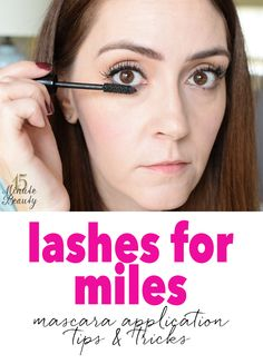 Long Lashes with Mascara!  Great tips!