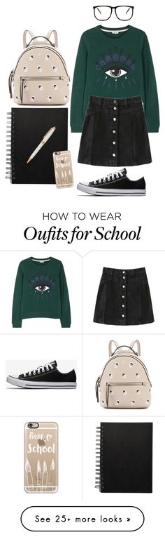 """""""School"""" by creece-massoudi on Polyvore featuring Fendi, Kenzo and Casetify"""