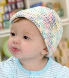 Discover an easy baby hat knitting pattern amid the sea of patterns for newborns. Red Heart Yarn& Easy to Knit Sweet Baby Hat knits up quick and keeps baby& head warm. It& a great gift idea for a shower. Baby Knitting Patterns, Baby Hat Patterns, Baby Hats Knitting, Knitting For Kids, Easy Knitting, Knitting Projects, Knitted Hats, Crochet Patterns, Crochet Hats