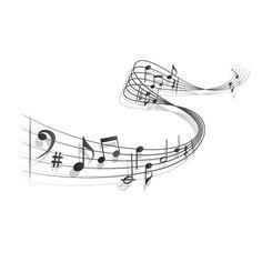 Imagenes de notas musicales para imprimir , todas estas imagenes en blanco y negro de notas musicales para imprimir  te ayudaran a completa...
