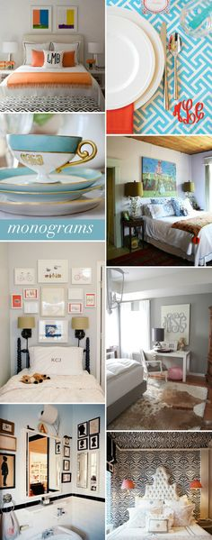 Interior Style File: Monograms