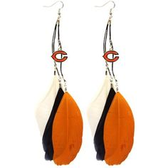 Chicago Bears Ladies Fan Feather Earrings #UltimateTailgate #Fanatics