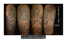 Half Sleeve Aztec Tattoo Designs 10 - http://aztectattoo.org/half-sleeve-aztec-tattoo-designs-10/