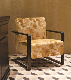 The Matisse easy chair by Oasis Home Collection, inspired by Art Déco graphic design.
