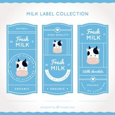 Milk Packaging, Brand Packaging, Packaging Design, Label Design, Flyer Design, Cow Logo, Milk Brands, Milk Splash, Adobe Illustrator