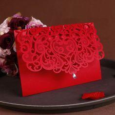 2016 NEW Vintage Wedding Supplies China Laser Cut Luxurious Wedding Invitations Red Elegant Wedding Invitation Paper Cards 50pcs-in Invitation Cards from Home & Garden on Aliexpress.com | Alibaba Group
