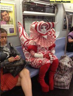Strange people on NYC subway