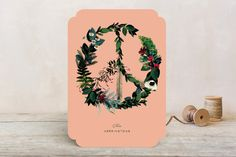 Floral Peace Holiday Cards by Baumbirdy