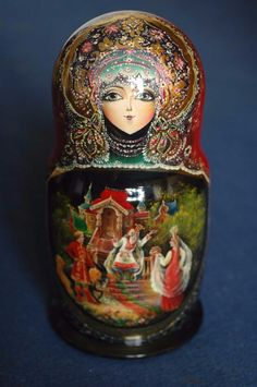 10 Pcs Signed Matryoshka Babushka Russian Nesting Doll Exquisite Detail | eBay
