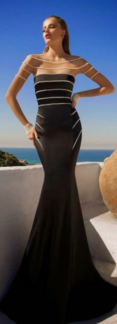 MoonStruck ~ Evening Dress By Galia Lahav