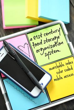 Organize your food storage by digitizing your HANDWRITTEN notes using the Post-it products Evernote collection!! #ad