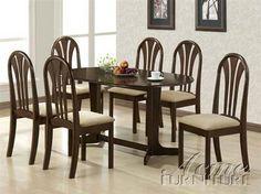 Stockholm Espresso Wood Dining Table Set