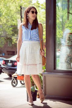 What I'd Wear : The Outfit Database  (source : Sequins and Stripes )
