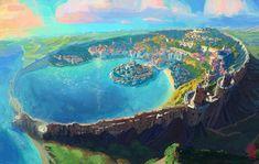 Sao Lous – Environment Design for Xor'Veil by Nimphradora on DeviantArt – Famous Last Words Fantasy City, Fantasy Map, Fantasy Places, Fantasy World, Fantasy Castle, Fantasy Art Landscapes, Fantasy Landscape, Landscape Art, Fantasy Concept Art