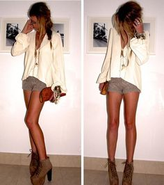 Love the boho feel of this night out outfit.I like the extra long necklace that completes the outfit Style Work, Mode Style, Style Blog, Looks Street Style, Looks Style, Look Fashion, Fashion Beauty, Womens Fashion, Feminine Fashion