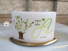 Hochzeitskerze Planter Pots, Mugs, Tableware, Cake, Desserts, Food, Candles, Pie Cake, Tailgate Desserts